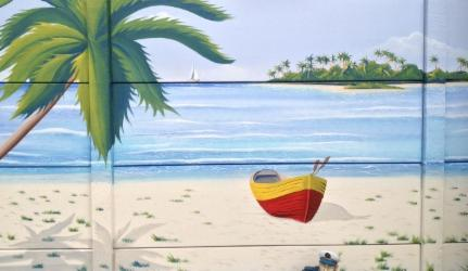 fresques murales decor peint sur facade peinture murale With camping bord de mer vendee avec piscine 3 fresques murales decor peint sur facade peinture murale