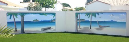 trompe l 39 oeil fresque murale d cor peint pr nom plaque de porte personnalis trompe l 39 oeil. Black Bedroom Furniture Sets. Home Design Ideas