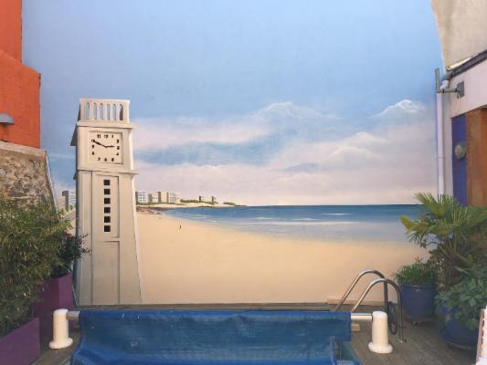 Peindre Mur Exterieur Good Peinture Dcorative Pour Mur Extrieur Ou