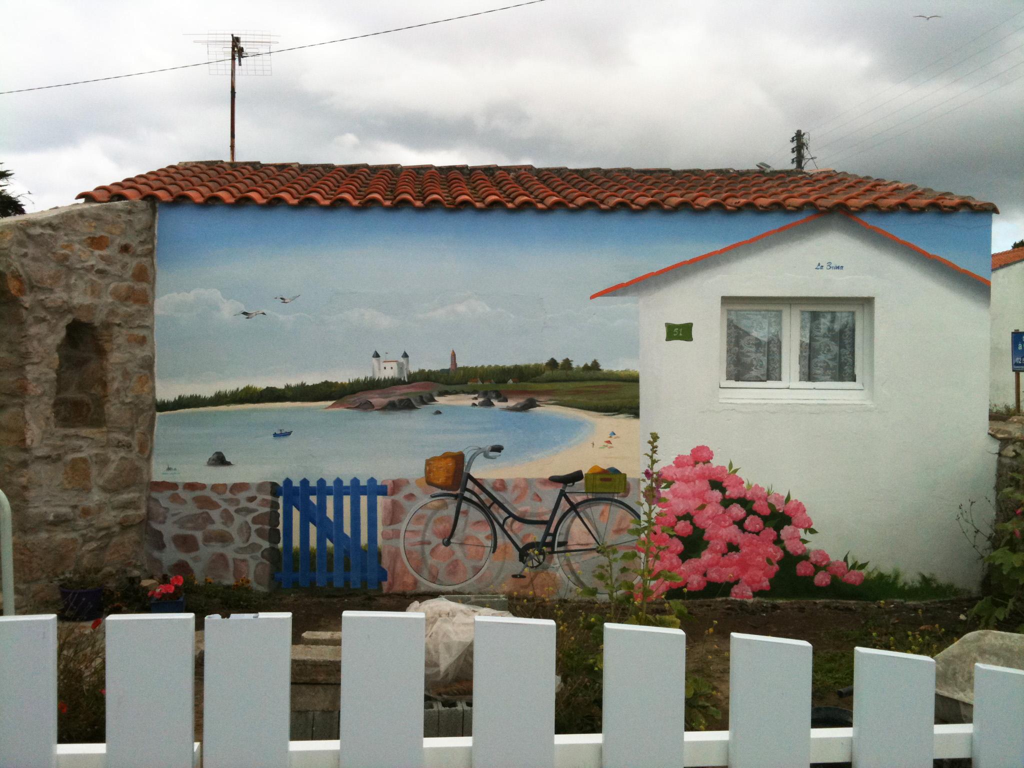 Peindre Une Fresque Sur Un Mur décor trompe oeil , peinture en trompe oeil , decor trompe l